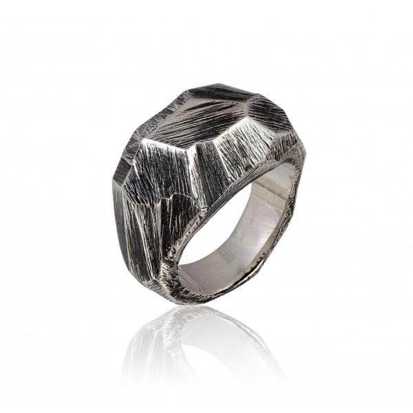 Δαχτυλίδι από Οξειδωμένο Ασήμι (hij_DA_104b)